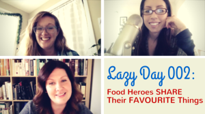Lazy Day with Elena Rosemond-Hoerr of Biscuits and Such, Eva Kosmas Flores of Adventures in Cooking, and Nicole Dula of Dula Notes on The Dinner Special podcast share their favourite things.