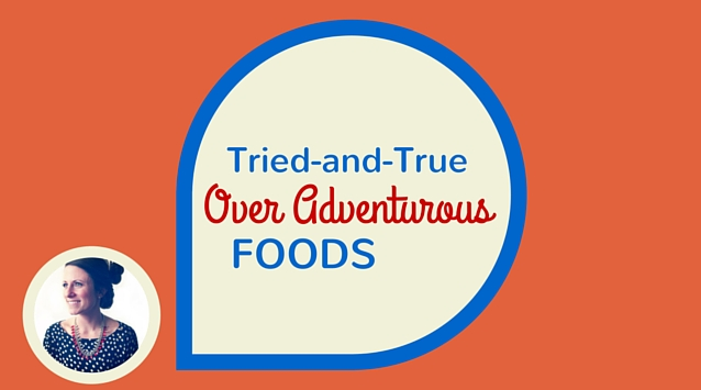 Melissa Coleman of The Fauxmartha on The Dinner Special podcast talking about tried-and-true over adventurous foods.