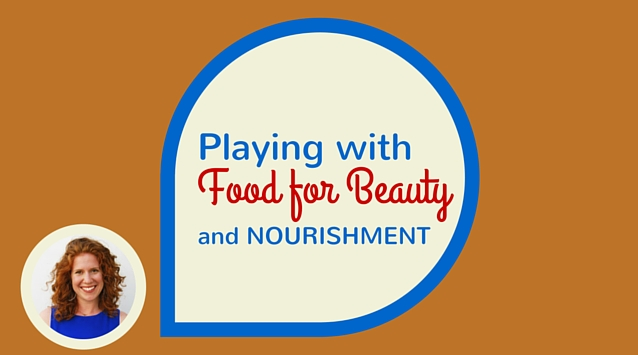 Lily Diamond of Kale and Caramel on The Dinner Special podcast talking about playing with food for beauty and nourishment.