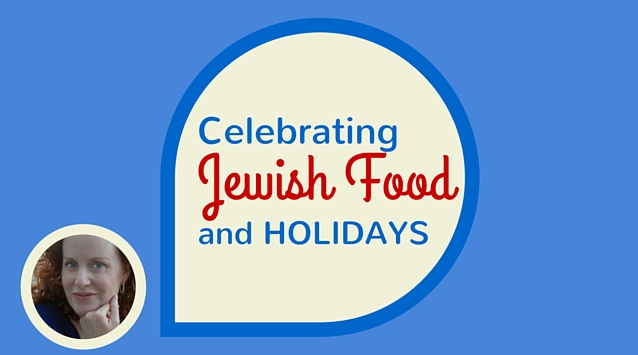 Liz Rueven of Kosher Like Me The Dinner Special podcast talking about celebrating Jewish food and Holidays