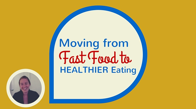 Erin Alderson of Naturally Ella on The Dinner Special podcast talking about moving from fast food to healthier eating.
