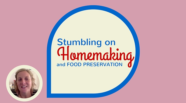 Kate Payne of Hip Girl's Guide to Homemaking on The Dinner Special podcast talking about stumbling on homemaking and food preservation.