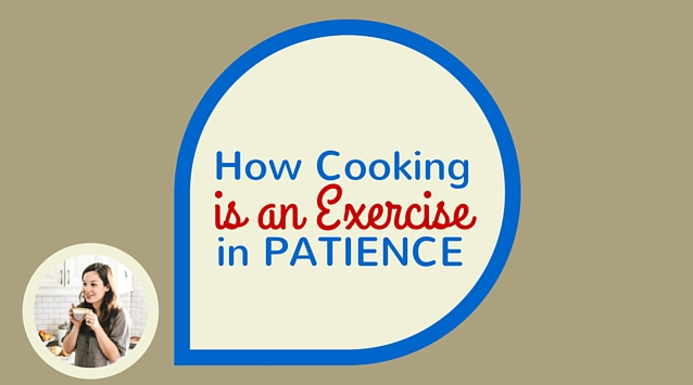 Hannah Messinger of Nothing but Delicious on The Dinner Special podcast talking about how cooking is an exercise in patience.